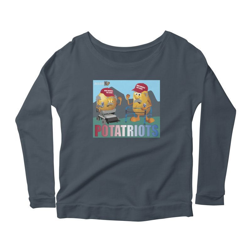 Geriatric Potatriots Women's Scoop Neck Longsleeve T-Shirt by America's Last Line of Defense