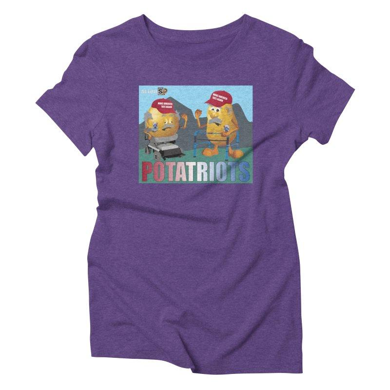 Geriatric Potatriots Women's Triblend T-Shirt by America's Last Line of Defense