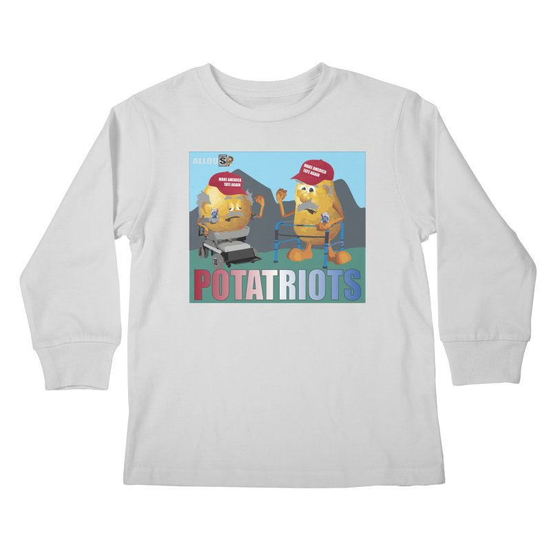 Geriatric Potatriots Kids Longsleeve T-Shirt by America's Last Line of Defense