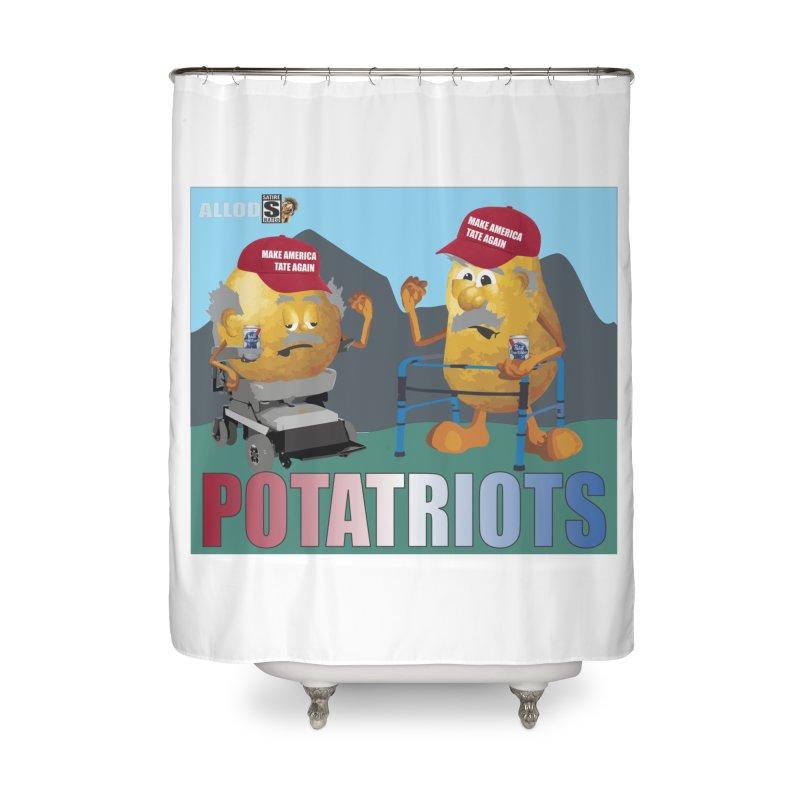 Geriatric Potatriots Home Shower Curtain by America's Last Line of Defense