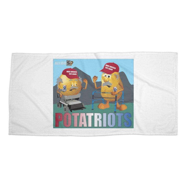 Geriatric Potatriots Accessories Beach Towel by America's Last Line of Defense