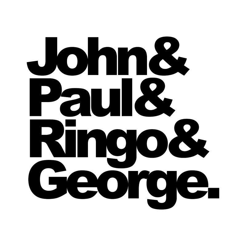 John and Paul and Ringo and George by ALMA VISUAL's Artist Shop