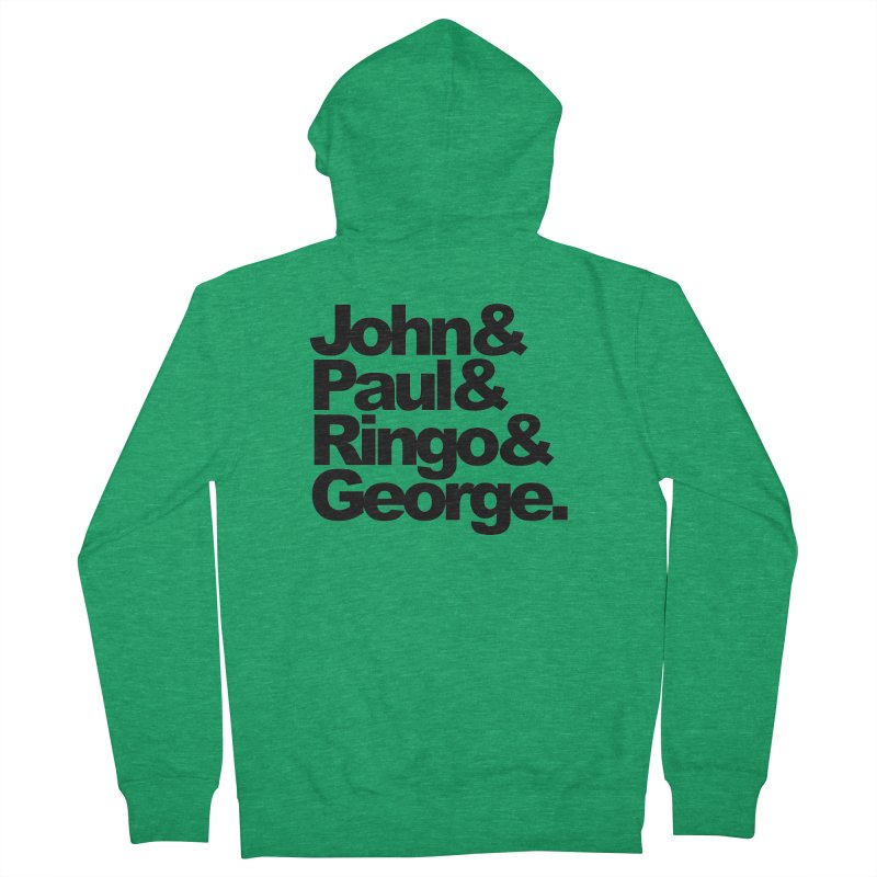 John and Paul and Ringo and George Women's Zip-Up Hoody by ALMA VISUAL's Artist Shop