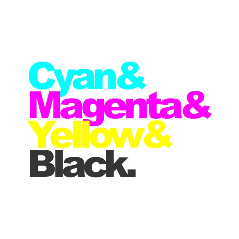Cyan and Magenta and Yellow and Black by ALMA VISUAL's Artist Shop