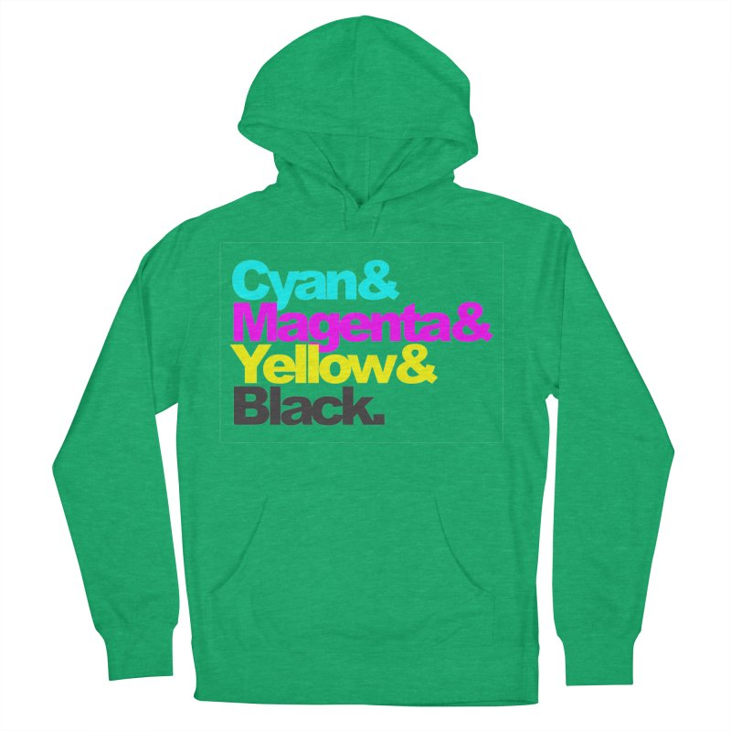 Cyan and Magenta and Yellow and Black Women's Pullover Hoody by ALMA VISUAL's Artist Shop