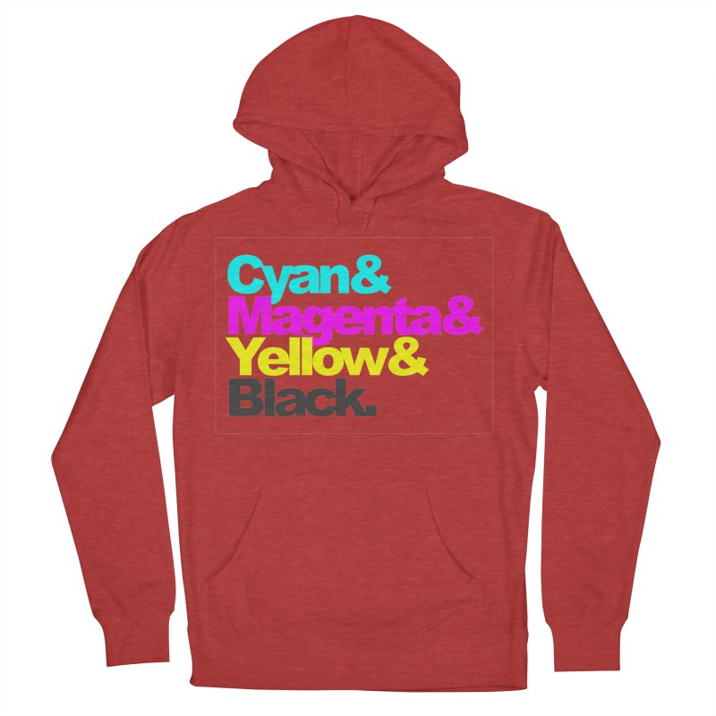Cyan and Magenta and Yellow and Black Men's Pullover Hoody by ALMA VISUAL's Artist Shop