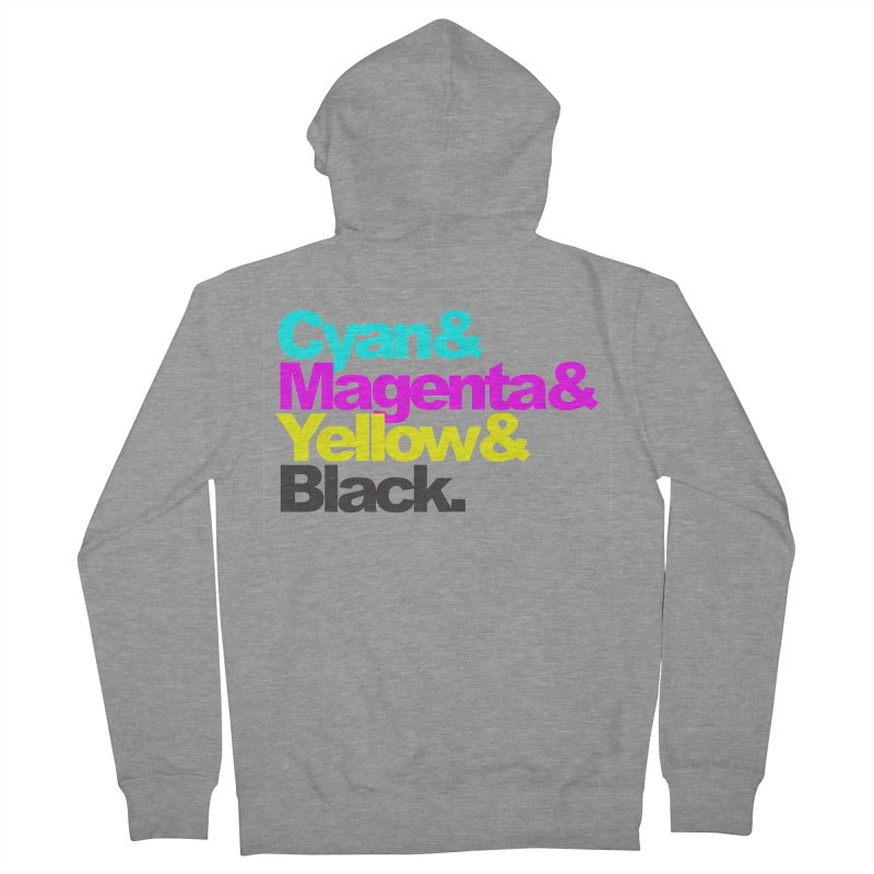 Cyan and Magenta and Yellow and Black Women's Zip-Up Hoody by ALMA VISUAL's Artist Shop