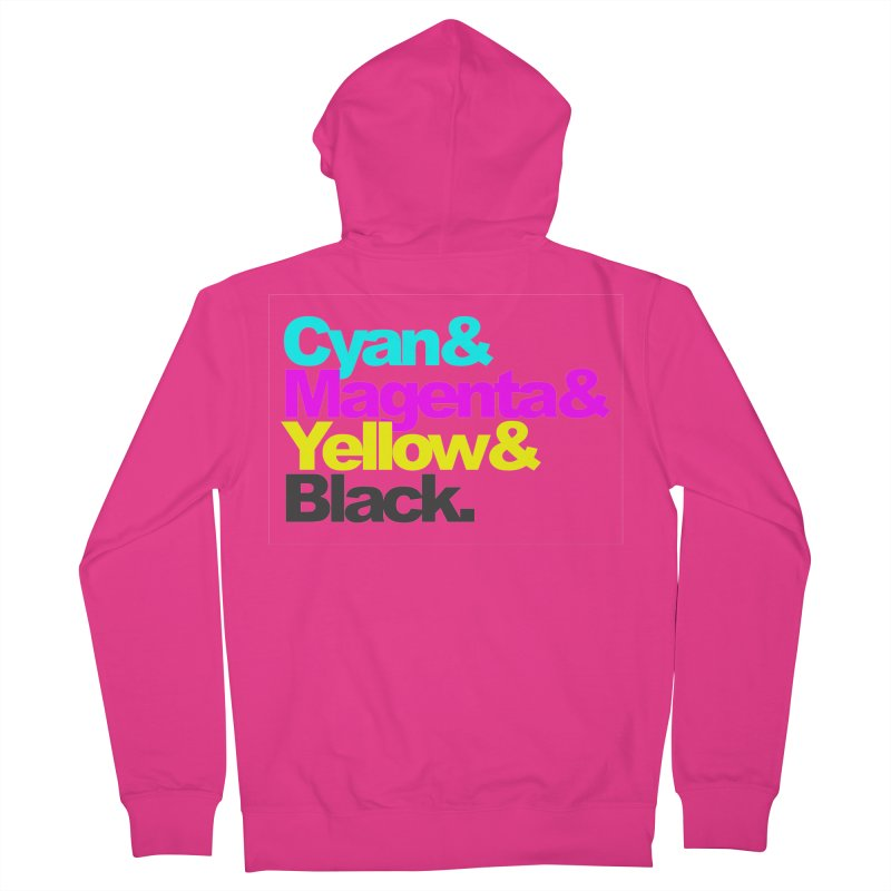 Cyan and Magenta and Yellow and Black Men's Zip-Up Hoody by ALMA VISUAL's Artist Shop