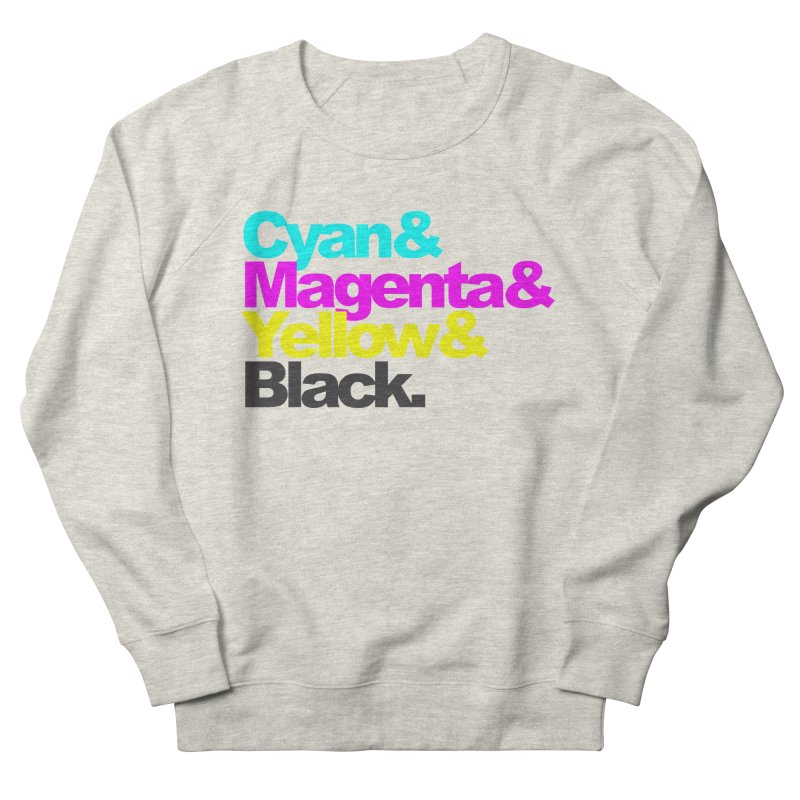 Cyan and Magenta and Yellow and Black Men's Sweatshirt by ALMA VISUAL's Artist Shop