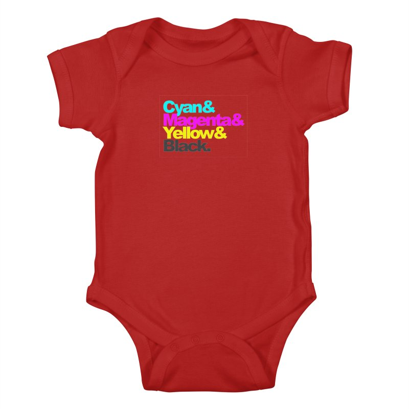 Cyan and Magenta and Yellow and Black Kids Baby Bodysuit by ALMA VISUAL's Artist Shop