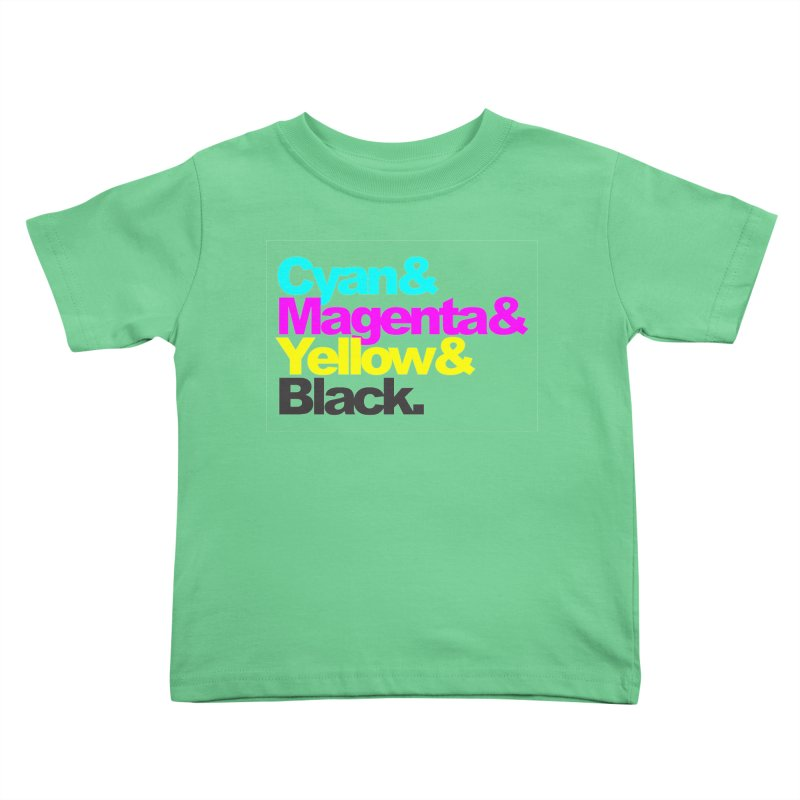Cyan and Magenta and Yellow and Black Kids Toddler T-Shirt by ALMA VISUAL's Artist Shop