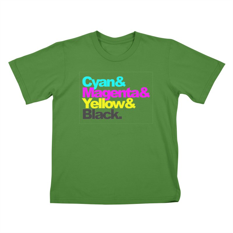 Cyan and Magenta and Yellow and Black Kids T-shirt by ALMA VISUAL's Artist Shop