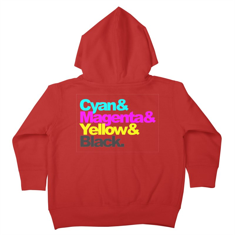 Cyan and Magenta and Yellow and Black Kids Toddler Zip-Up Hoody by ALMA VISUAL's Artist Shop