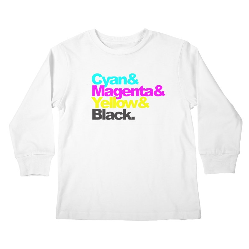 Cyan and Magenta and Yellow and Black Kids Longsleeve T-Shirt by ALMA VISUAL's Artist Shop