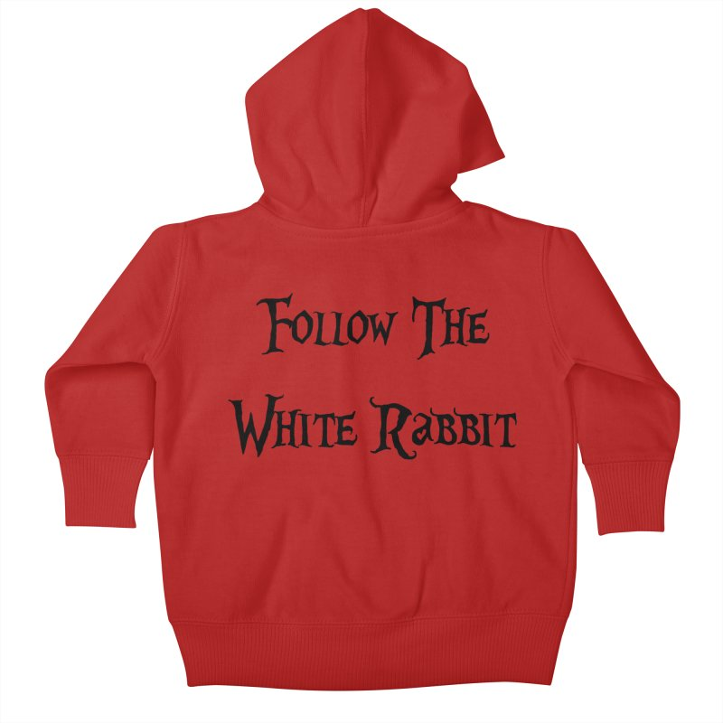 Follow The White Rabbit Kids Baby Zip-Up Hoody by ALMA VISUAL's Artist Shop