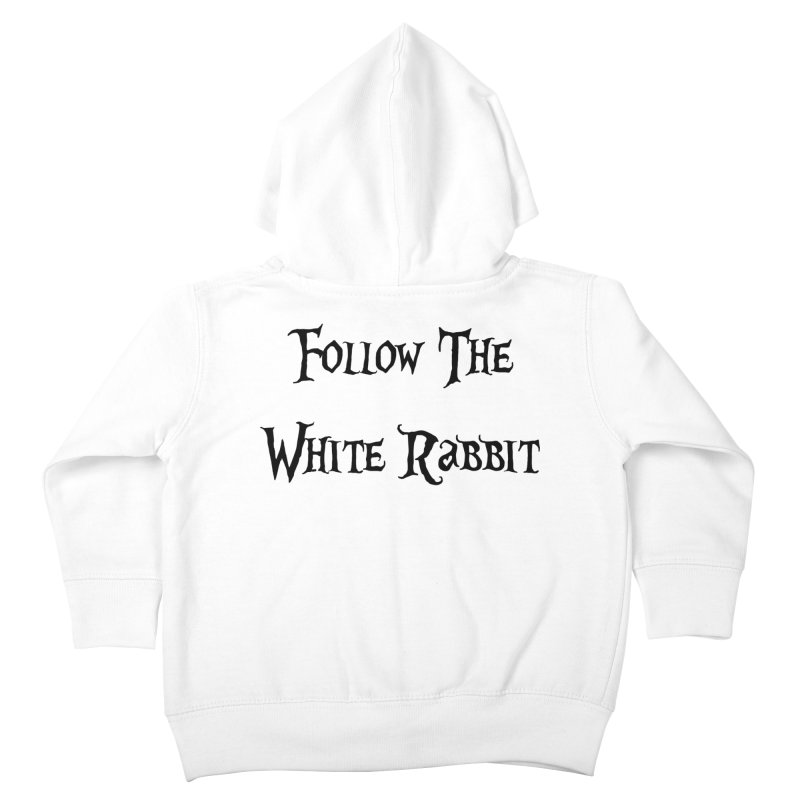 Follow The White Rabbit Kids Toddler Zip-Up Hoody by ALMA VISUAL's Artist Shop