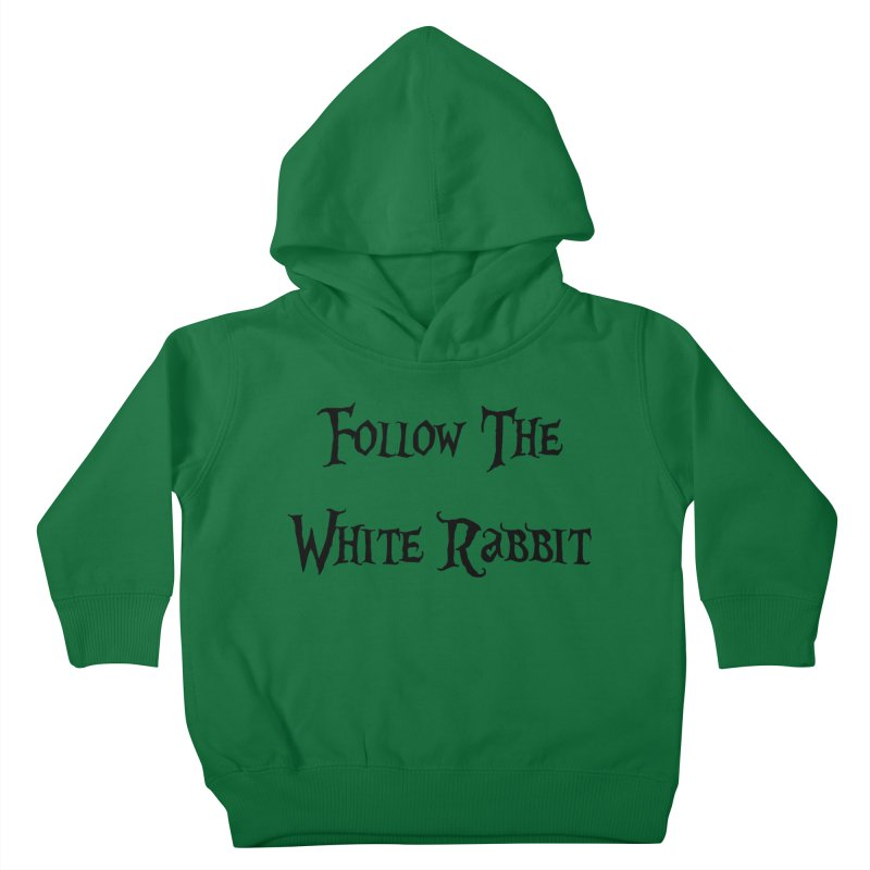 Follow The White Rabbit Kids Toddler Pullover Hoody by ALMA VISUAL's Artist Shop