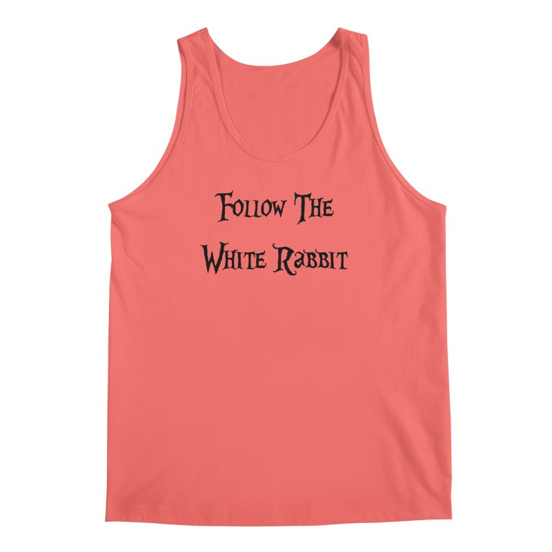Follow The White Rabbit Men's Tank by ALMA VISUAL's Artist Shop