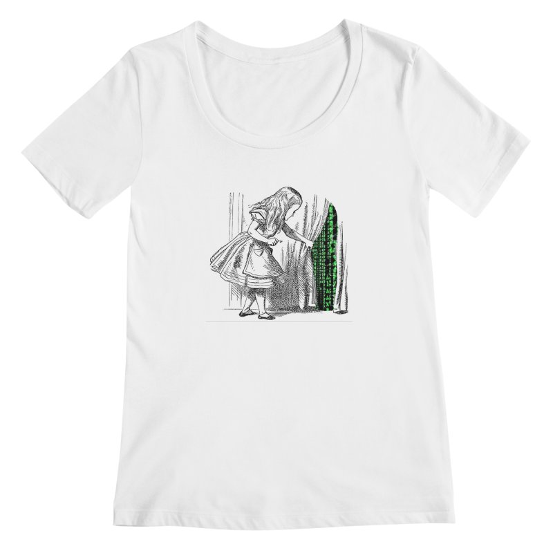 Alice Matrix Women's Scoopneck by ALMA VISUAL's Artist Shop
