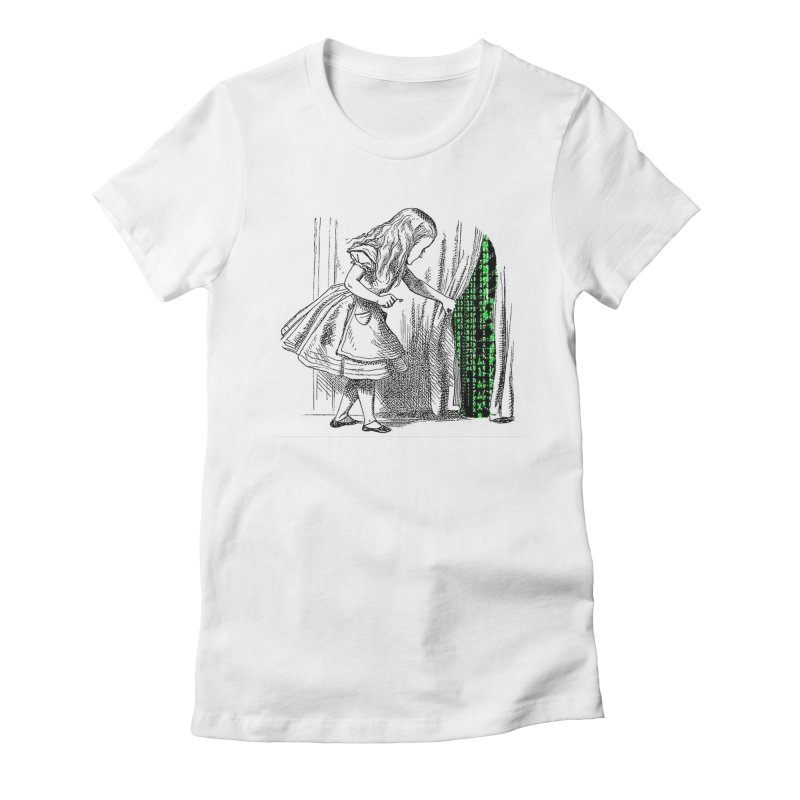 Alice Matrix Women's Fitted T-Shirt by ALMA VISUAL's Artist Shop