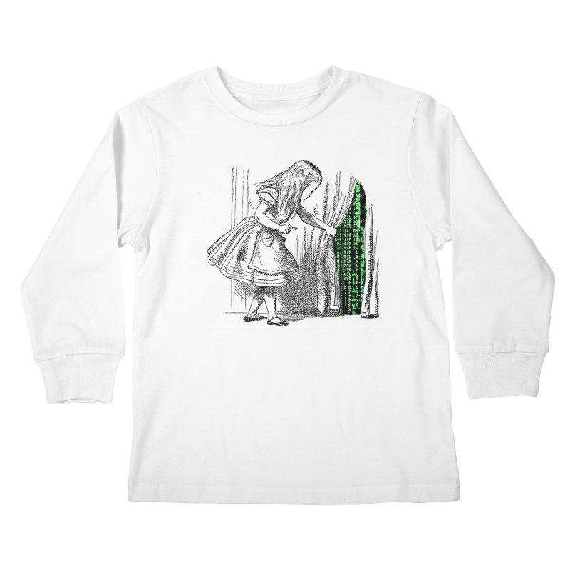 Alice Matrix Kids Longsleeve T-Shirt by ALMA VISUAL's Artist Shop