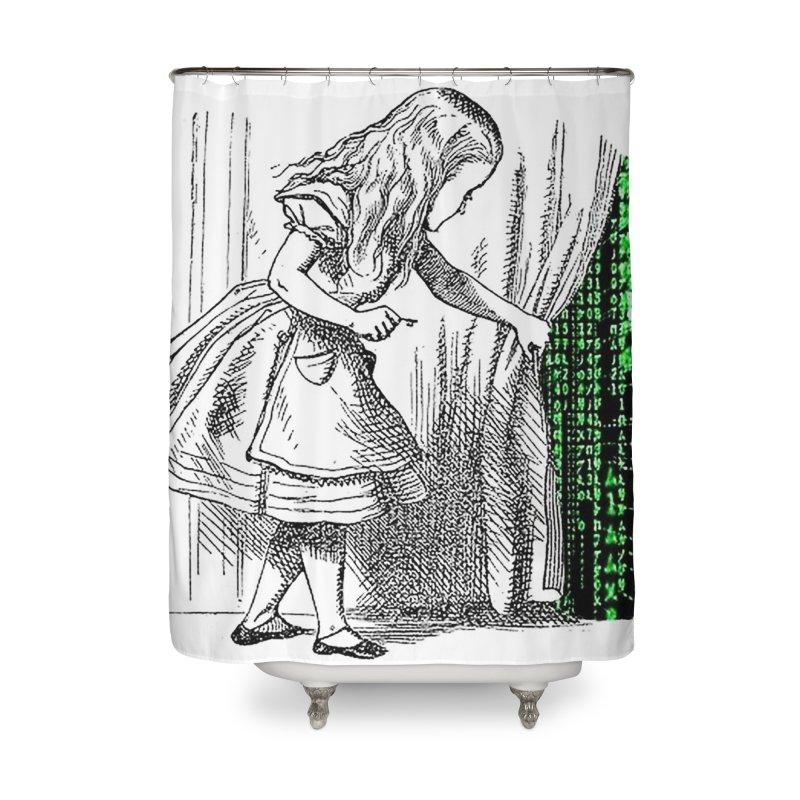 Alice Matrix Home Shower Curtain by ALMA VISUAL's Artist Shop