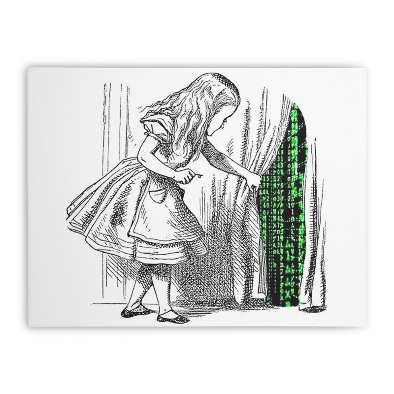 Alice Matrix Home Stretched Canvas by ALMA VISUAL's Artist Shop