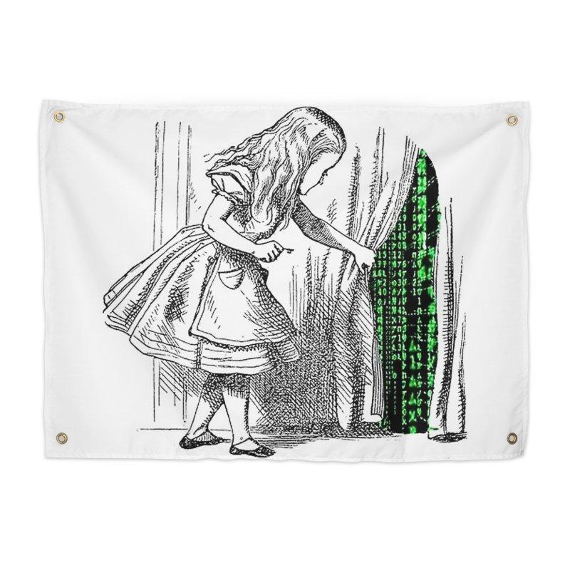 Alice Matrix Home Tapestry by ALMA VISUAL's Artist Shop