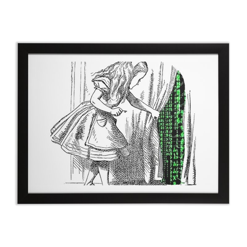 Alice Matrix Home Framed Fine Art Print by ALMA VISUAL's Artist Shop