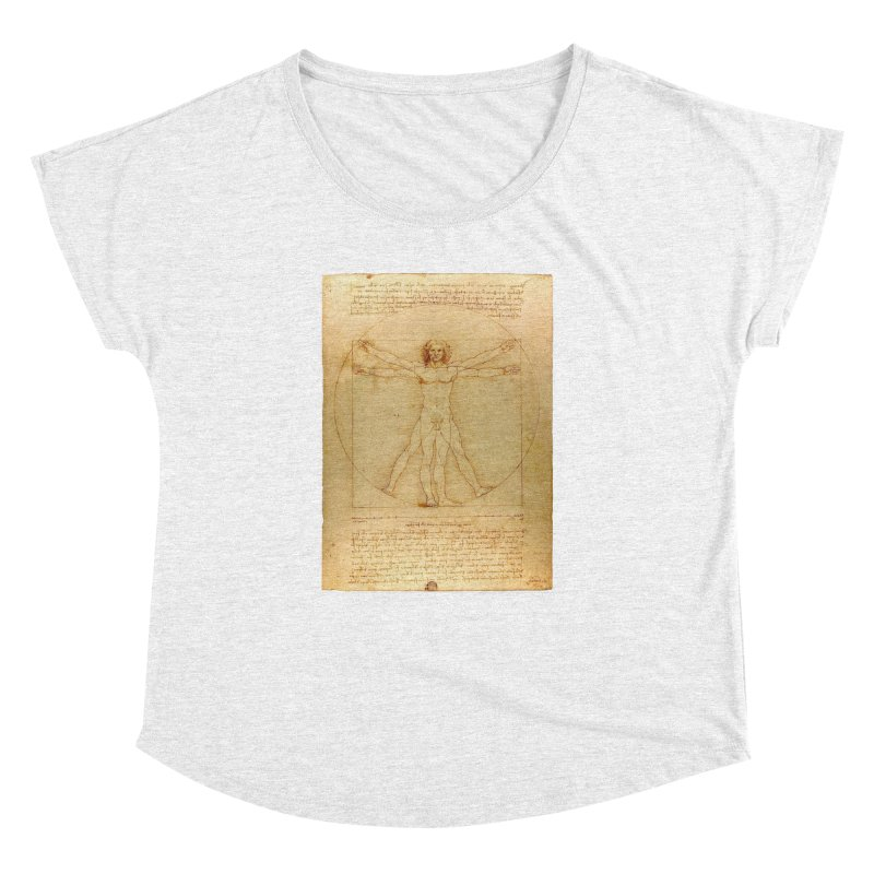 Leonardo Da Vinci Vitruvian Man draw Women's Dolman by ALMA VISUAL's Artist Shop