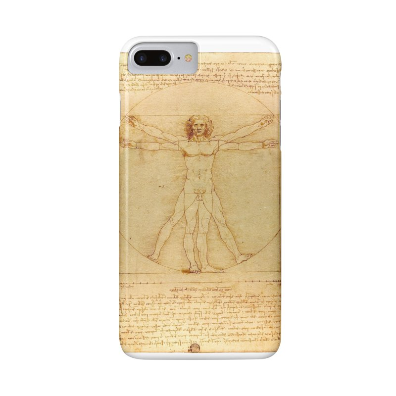 Leonardo Da Vinci Vitruvian Man draw Accessories Phone Case by ALMA VISUAL's Artist Shop