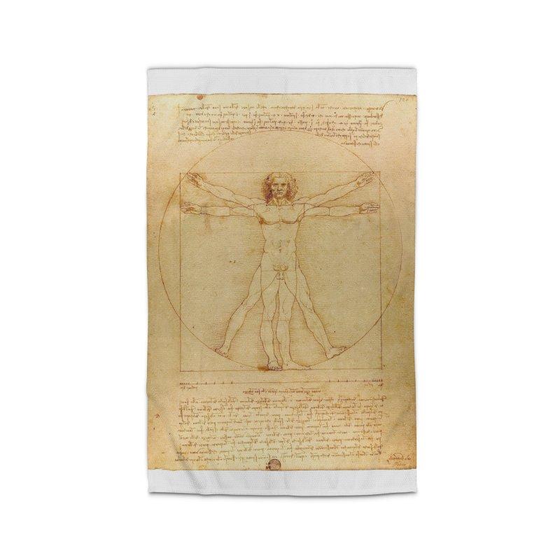 Leonardo Da Vinci Vitruvian Man draw Home Rug by ALMA VISUAL's Artist Shop