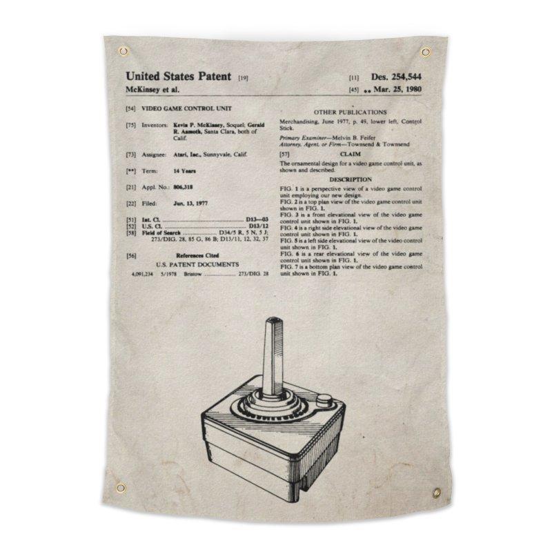 Atari Joystick patent original Home Tapestry by ALMA VISUAL's Artist Shop