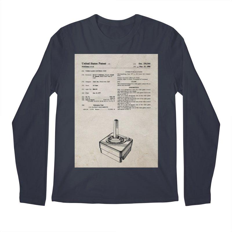 Atari Joystick patent original Men's Longsleeve T-Shirt by ALMA VISUAL's Artist Shop