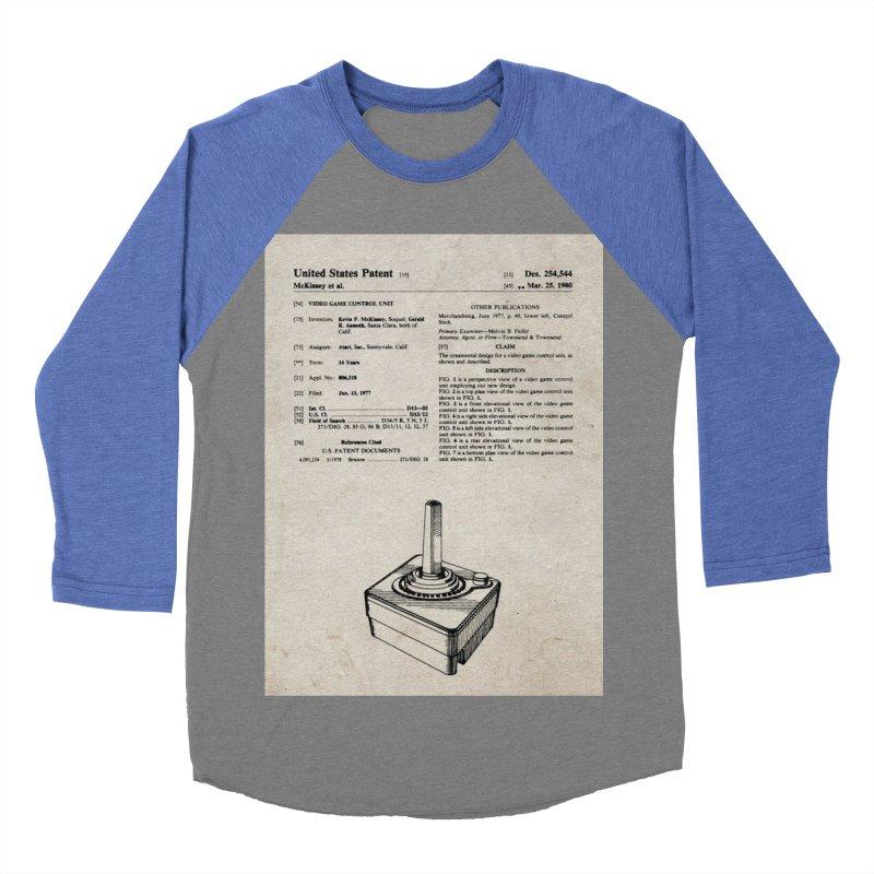 Atari Joystick patent original Men's Baseball Triblend T-Shirt by ALMA VISUAL's Artist Shop