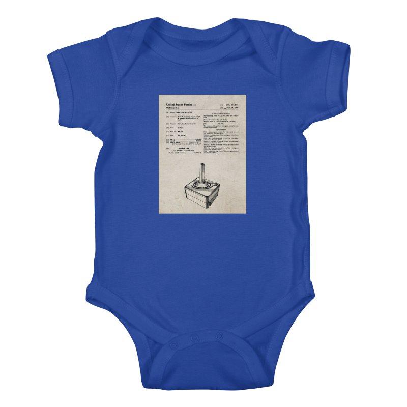 Atari Joystick patent original Kids Baby Bodysuit by ALMA VISUAL's Artist Shop