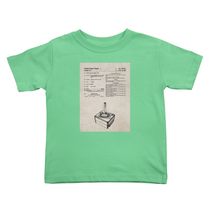 Atari Joystick patent original Kids Toddler T-Shirt by ALMA VISUAL's Artist Shop