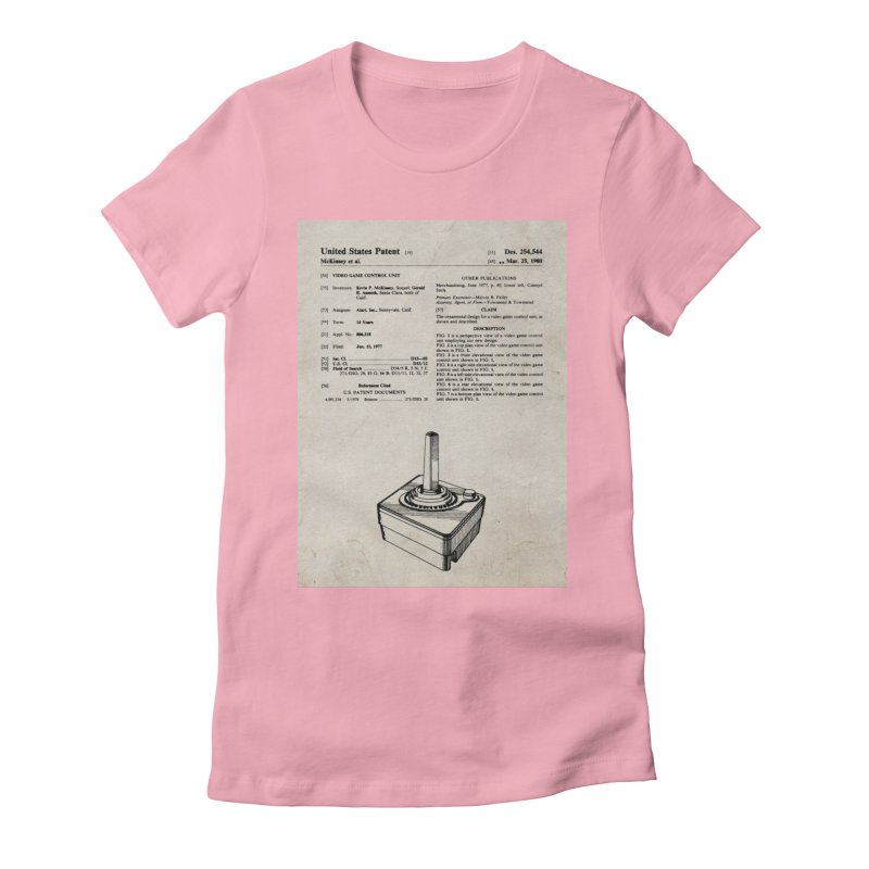 Atari Joystick patent original Women's Fitted T-Shirt by ALMA VISUAL's Artist Shop