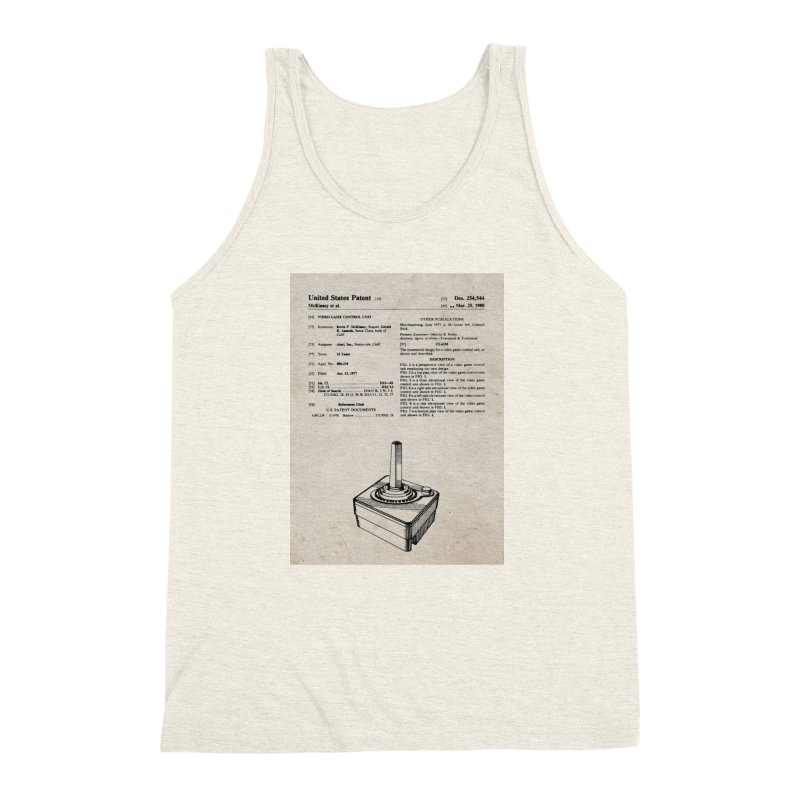 Atari Joystick patent original Men's Triblend Tank by ALMA VISUAL's Artist Shop