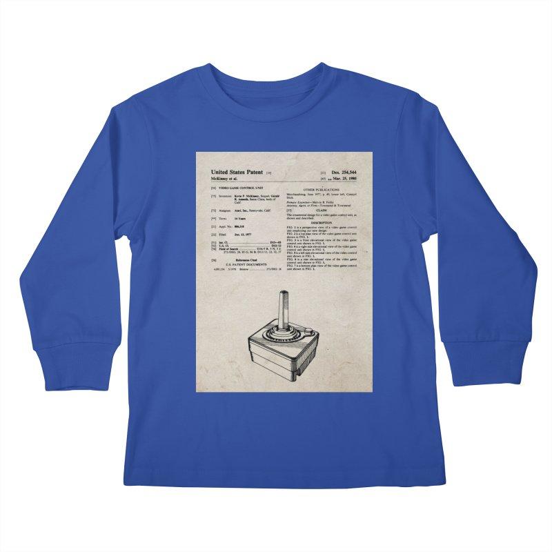 Atari Joystick patent original Kids Longsleeve T-Shirt by ALMA VISUAL's Artist Shop