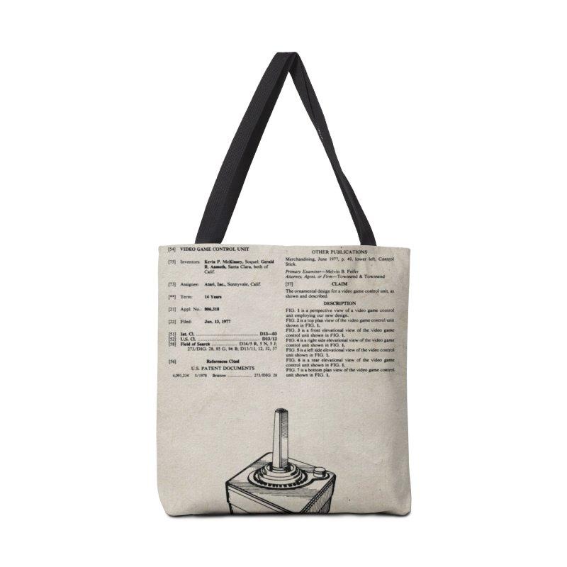 Atari Joystick patent original Accessories Bag by ALMA VISUAL's Artist Shop