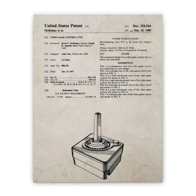 Atari Joystick patent original Home Stretched Canvas by ALMA VISUAL's Artist Shop