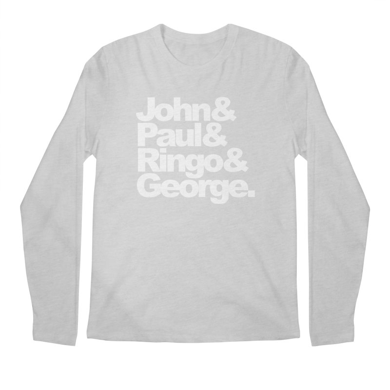 John and Paul and Ringo and George - black background Men's Longsleeve T-Shirt by ALMA VISUAL's Artist Shop