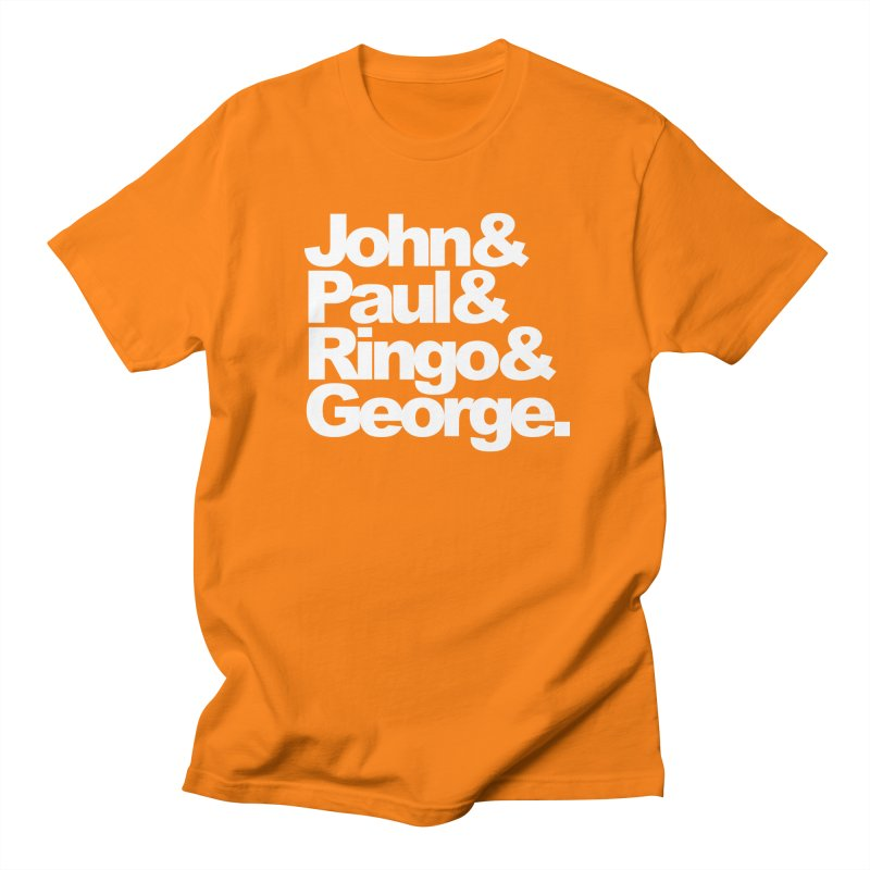 John and Paul and Ringo and George - black background Women's Unisex T-Shirt by ALMA VISUAL's Artist Shop