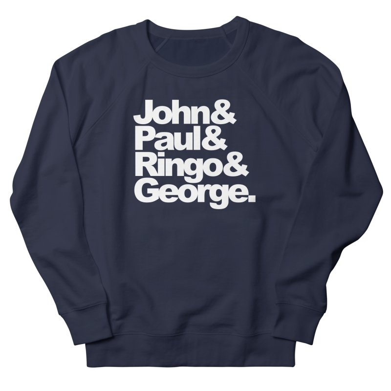 John and Paul and Ringo and George - black background Men's Sweatshirt by ALMA VISUAL's Artist Shop