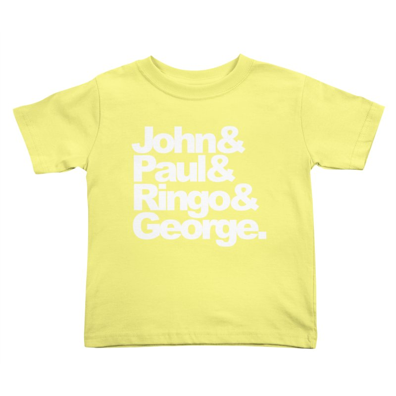 John and Paul and Ringo and George - black background Kids Toddler T-Shirt by ALMA VISUAL's Artist Shop