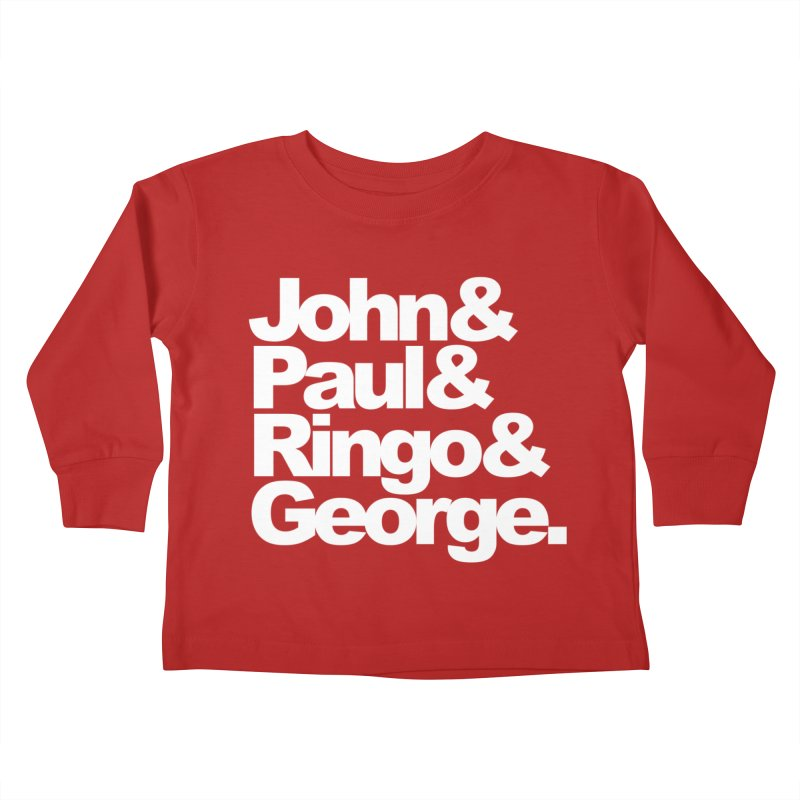 John and Paul and Ringo and George - black background Kids Toddler Longsleeve T-Shirt by ALMA VISUAL's Artist Shop
