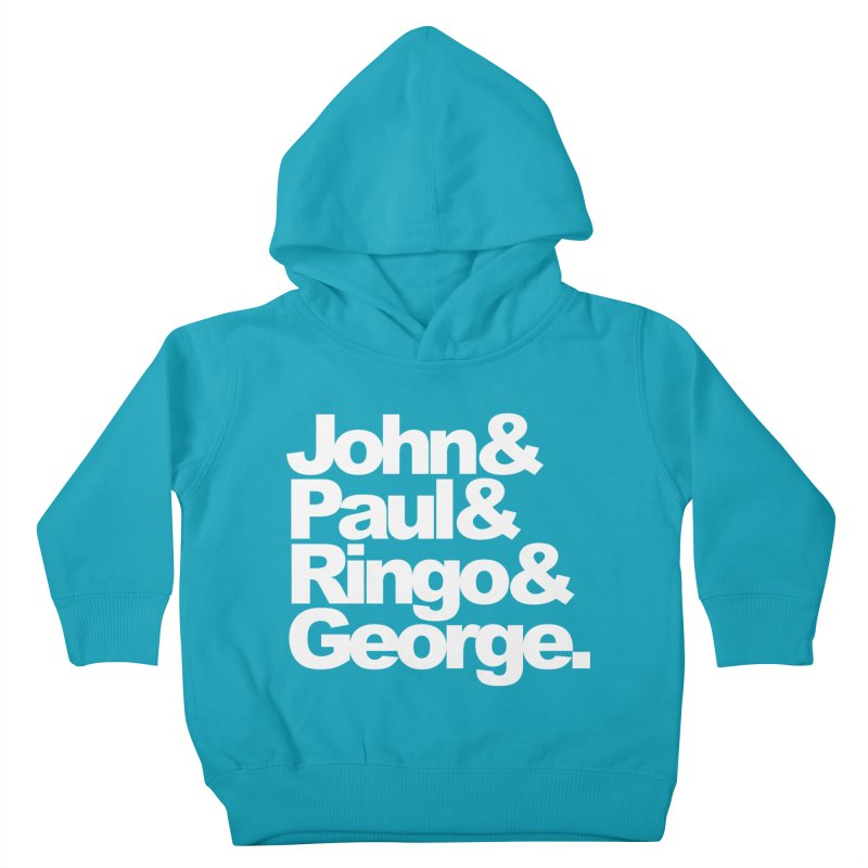 John and Paul and Ringo and George - black background Kids Toddler Pullover Hoody by ALMA VISUAL's Artist Shop