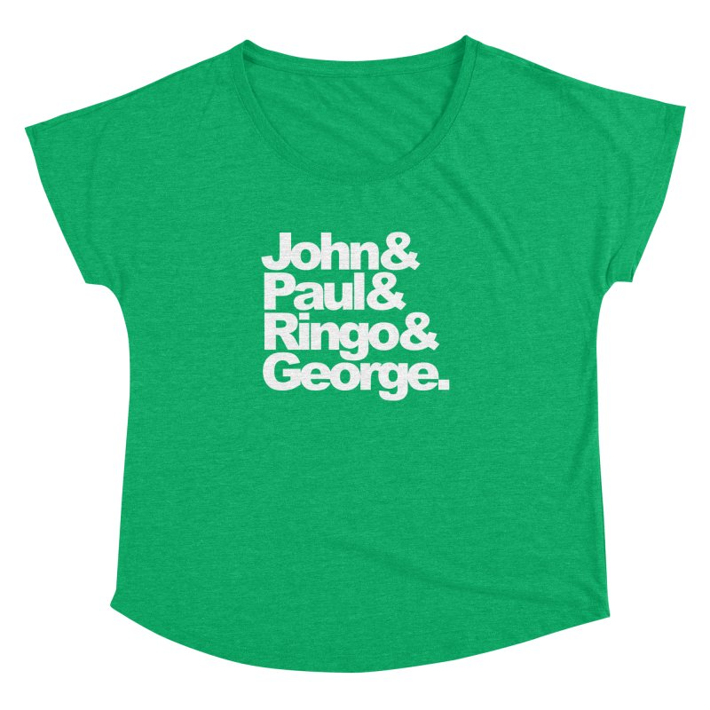 John and Paul and Ringo and George - black background Women's Dolman by ALMA VISUAL's Artist Shop