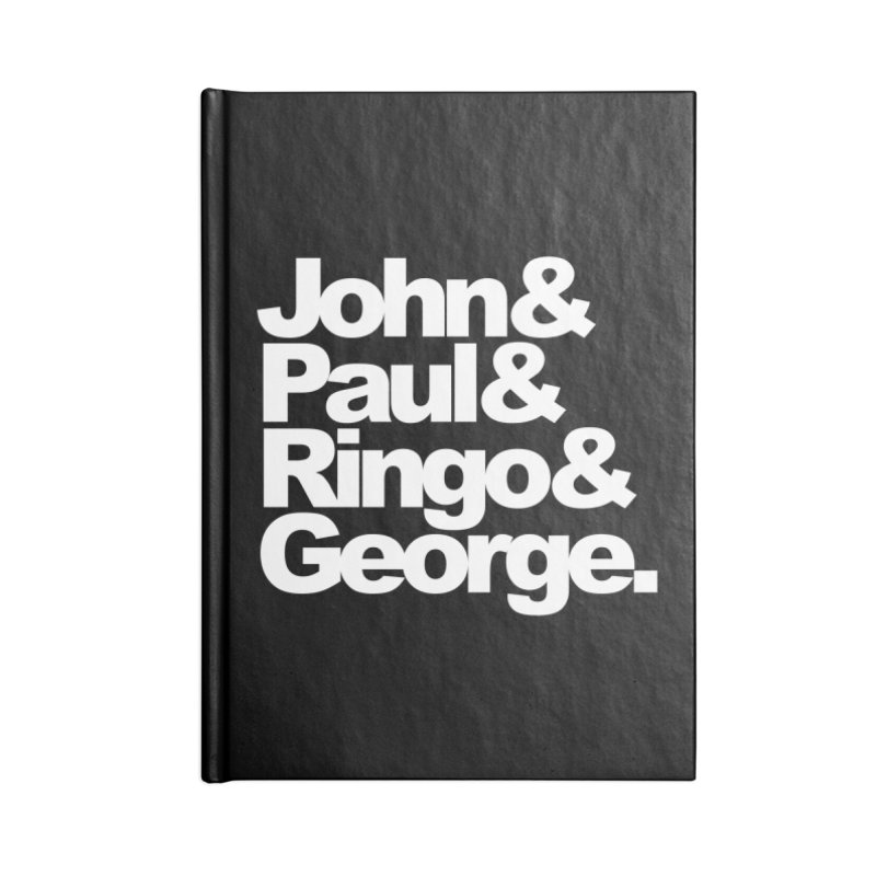John and Paul and Ringo and George - black background Accessories Notebook by ALMA VISUAL's Artist Shop